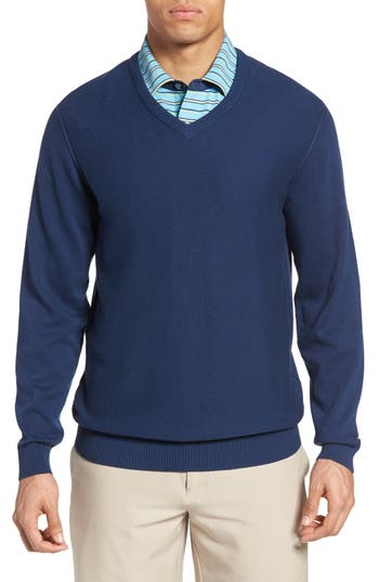 Bobby Jones Pique Jersey V-Neck Sweater