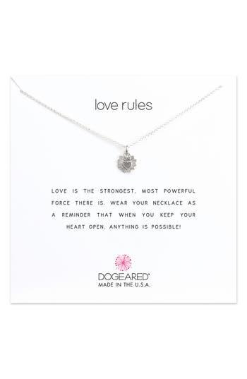 Women's Dogeared Love Rules Pendant Necklace