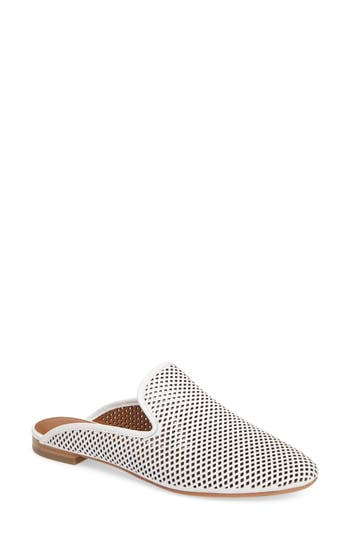 Frye Gwen Perforated Mule, White