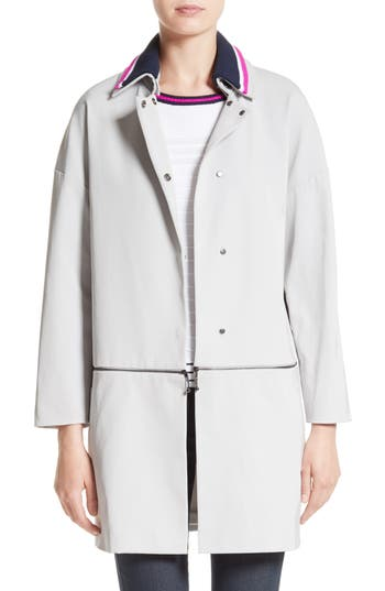 Women's St. John Collection Stretch Twill Convertible Coat