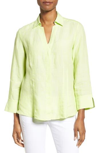 Foxcroft Linen Chambray Shirt, Green