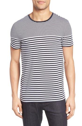 Boss Tessler Slim Fit Stripe T-Shirt, Blue