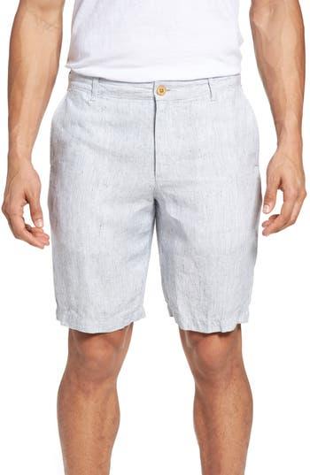 Big & Tall Tommy Bahama Shoreline Stripe Linen Shorts, Brown