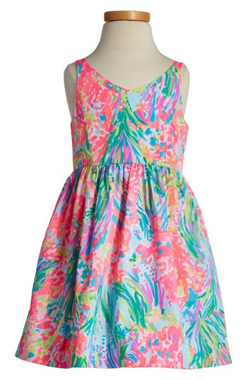 Girl's Lilly Pulitzer Rue Fit & Flare Dress