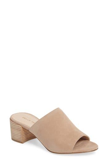 Women's Pelle Moda Union Block Heel Mule, Size 8.5 M - Beige