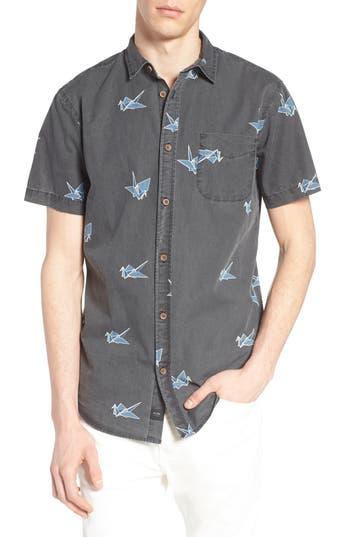 Men's Globe Paper Crane Print Shirt