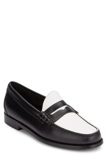Men's G.h. Bass & Co. 'Larson - Weejuns' Penny Loafer, Size 8.5 M - Black -  LARSON-BLK