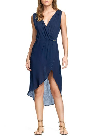 Vix Swimwear Midnight Gisele Cover-Up Caftan, Blue