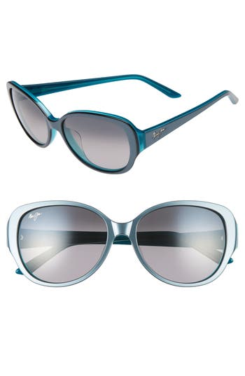 Maui Jim Swept Away 5m Polarizedplus2 Sunglasses - Blue Grey/ Teal/ Neutral Grey