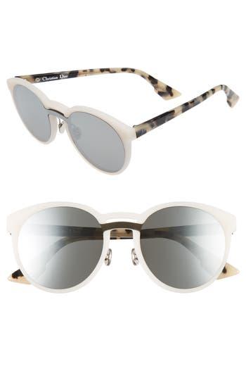 Dior Onde 1 50Mm Round Sunglasses - Dark Havana/ Black