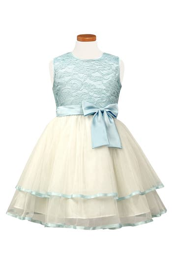Toddler Girls Sorbet Tiered Lace  Tulle Dress Size 2T  Blue