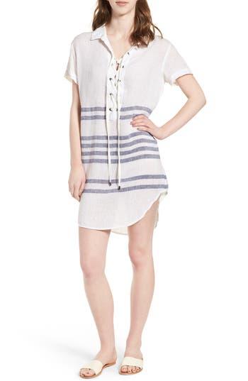 Rails Rocky Lace-Up Tunic Dress, White