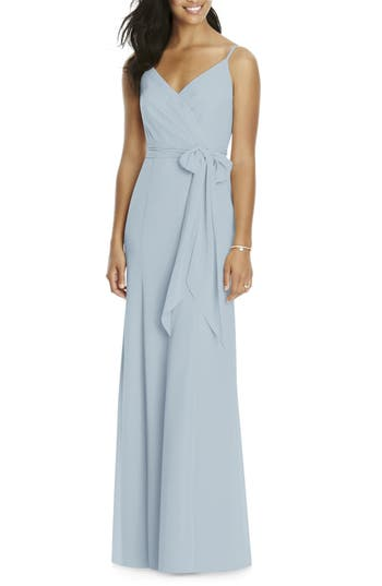Social Bridesmaids Faux Wrap Gown