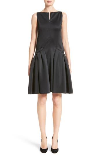 Armani Collezioni Neoprene Fit & Flare Dress, Black