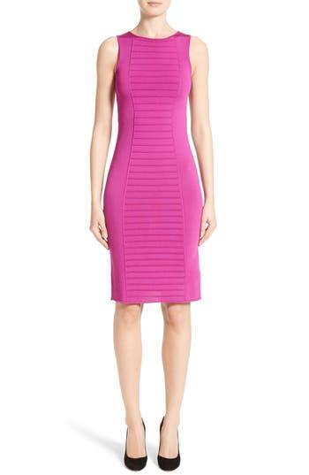 Armani Collezioni Micro Pipe Knit Dress, Pink
