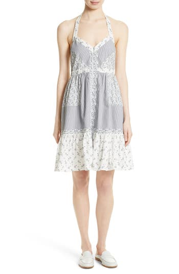 La Vie Rebecca Taylor Breeze Print Halter Dress