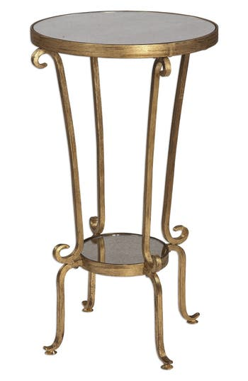 Uttermost Vevina Accent Table, Size One Size - Metallic