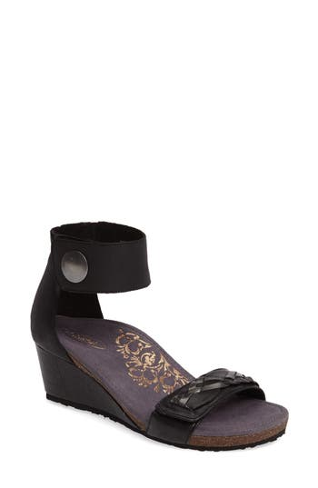 Women's Aetrex Becca Cuff Wedge Sandal