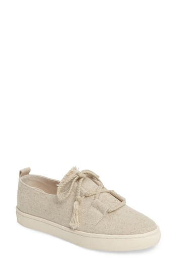 Soludos Frayed Platform Sneaker, Brown