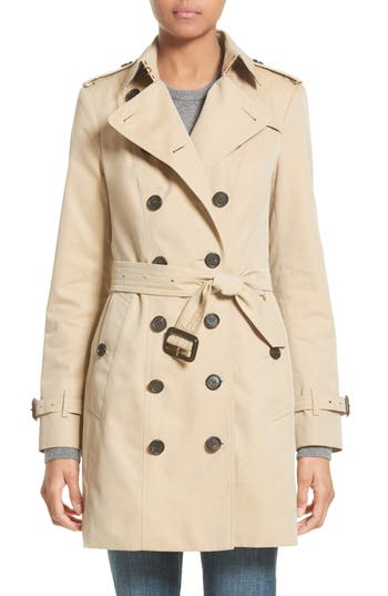 Women's Burberry Sandringham Mid Slim Trench Coat