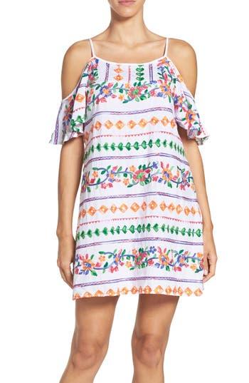 La Blanca Eden Cover-Up Dress, Coral