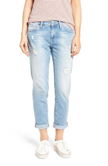 Women's Mavi Jeans Ada Ripped Boyfriend Jeans, Size 31 x 29 - Blue