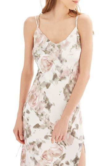 Women's Topshop Bride Asymmetrical Slipdress, Size 10 US (fits like 10-12) - Pink