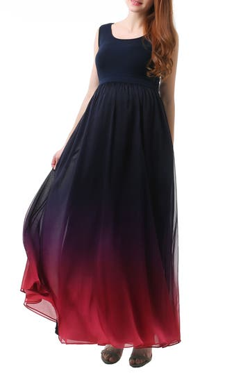 Kimi And Kai Samantha Ombre Maternity Maxi Dress