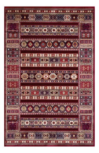 Couristan Cire Jerrico Area Rug, ft 0in x 3ft 11in - Red