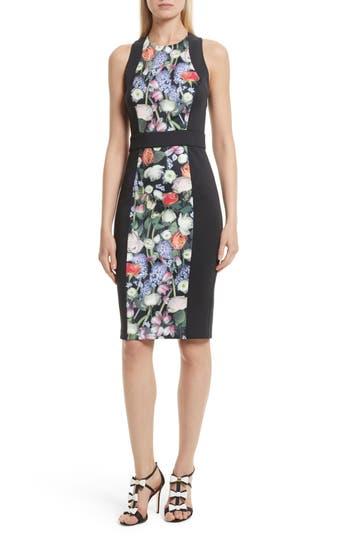 Ted Baker London Akva Kensington Floral Body-Con Dress, Black