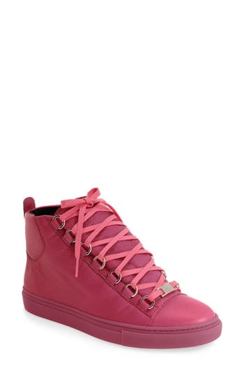Balenciaga High Top Sneaker, Pink