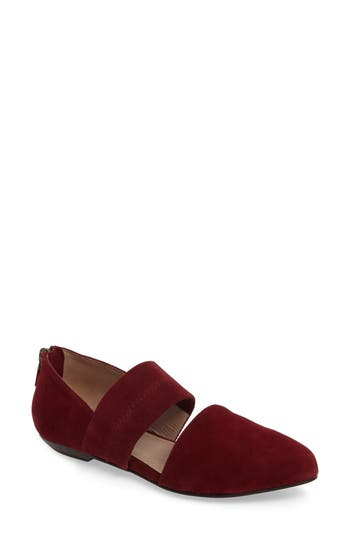 Eileen Fisher Hall Pointy Toe Flat, Red