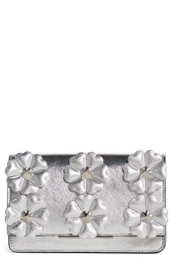 Women's Fendi Flower Leather Wallet On A Chain -