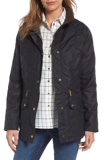 Women's Barbour Barrowdale Waxed Cotton Coat