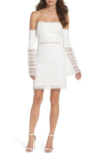 Women's Foxiedox Catalina Lace Off The Shoulder Sheath Dress