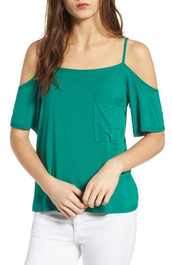 Women's Bailey 44 Bail Out Off The Shoulder Top, Size X-Small - Green