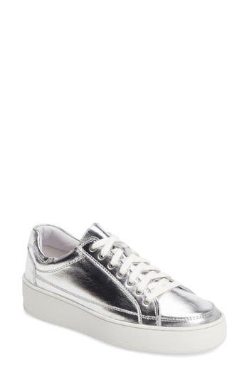 Free People Letterman Platform Sneaker - Metallic