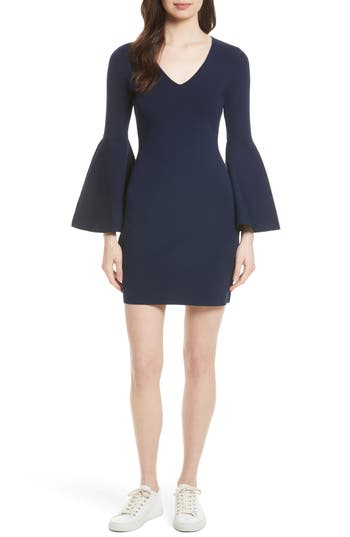 Milly Swing Sleeve Knit Sheath Dress, Size Petite - Blue