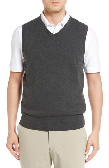 Cutter & Buck Lakemont V-Neck Sweater Vest, Grey