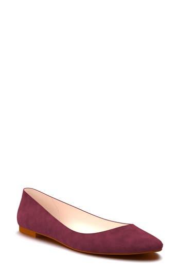 Shoes Of Prey Ballet Flat - Burgundy