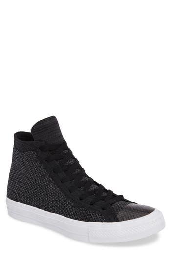 Converse Chuck Taylor All Star Flyknit Hi Sneaker- Black
