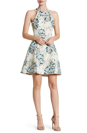 Dress The Population Hannah Fit & Flare Dress, Blue