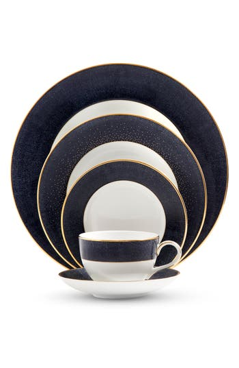 Monique Lhuillier Waterford Stardust Night 5-Piece Bone China Dinnerware Place Setting, Size One Size - White