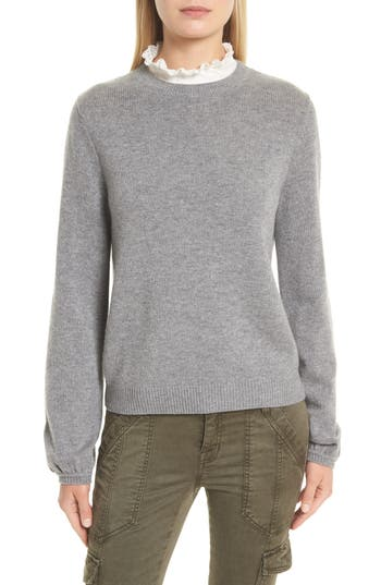 Joie Affie Wool & Cashmere Sweater, Grey