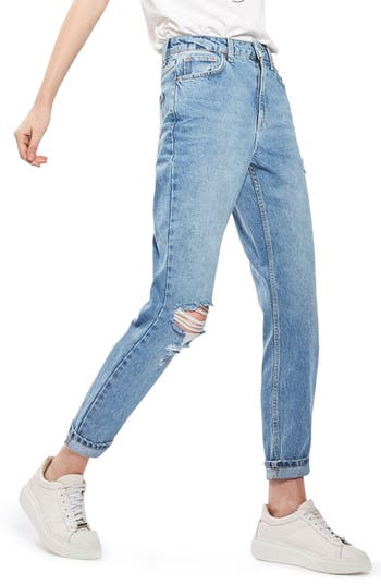 Women's Topshop Ripped Mom Jeans