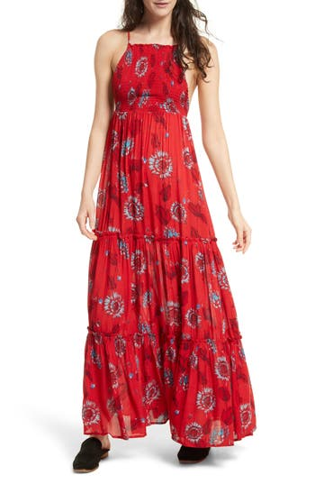 Free People Garden Party Maxi Dress, Red