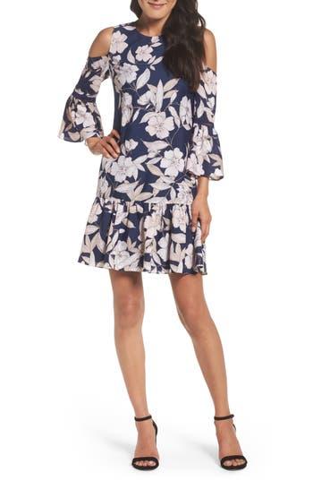 Eliza J Bell Sleeve Shift Dress, Blue