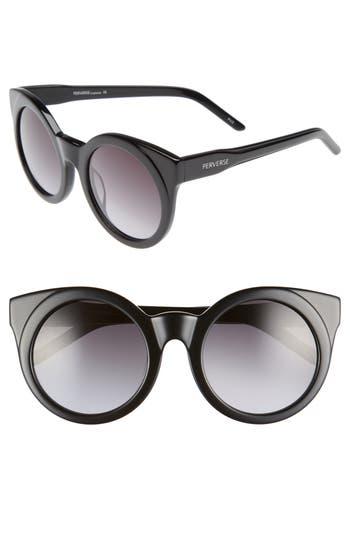 Perverse Mutiny 50Mm Gradient Lens Cat Eye Sunglasses - Multi/ Black