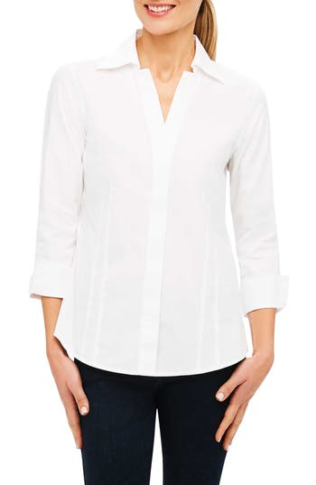 Foxcroft Fitted Non-Iron Shirt, White