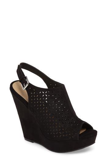 Chinese Laundry Matilda Wedge Sandal, Black